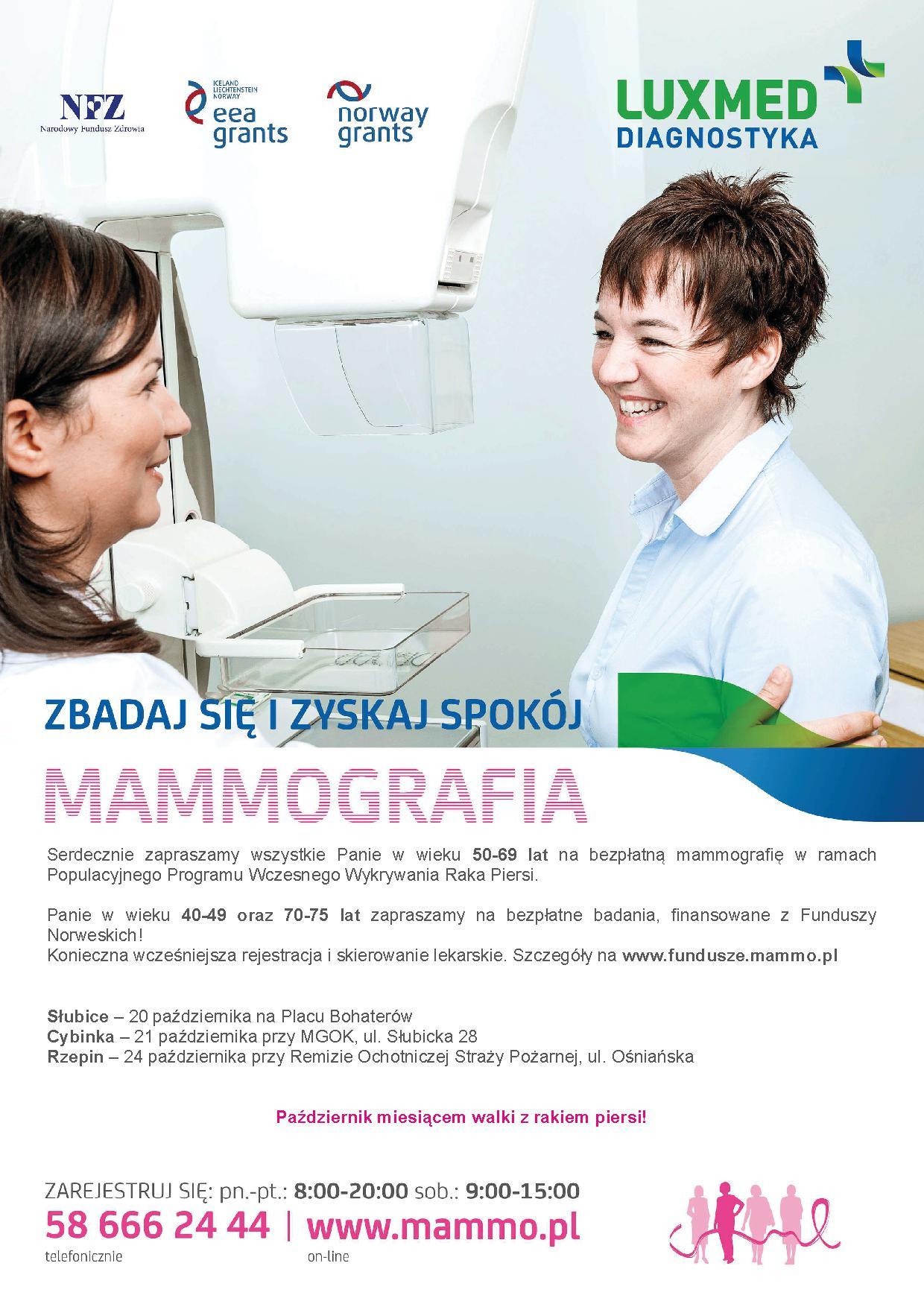 Ilustracja do informacji: Październik miesiącem walki z rakiem piersi - bezpłatne badania w mammobusie!