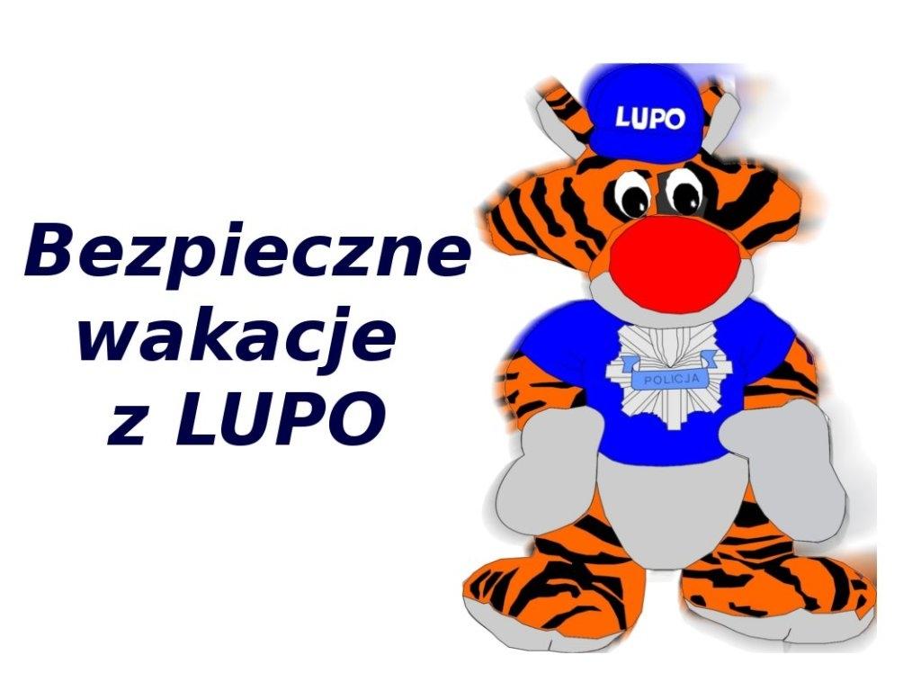 """Ilustracja do informacji: Uczniowie z Rzepina laureatami """"BEZPIECZNYCH WAKACJI Z LUPO"""""""