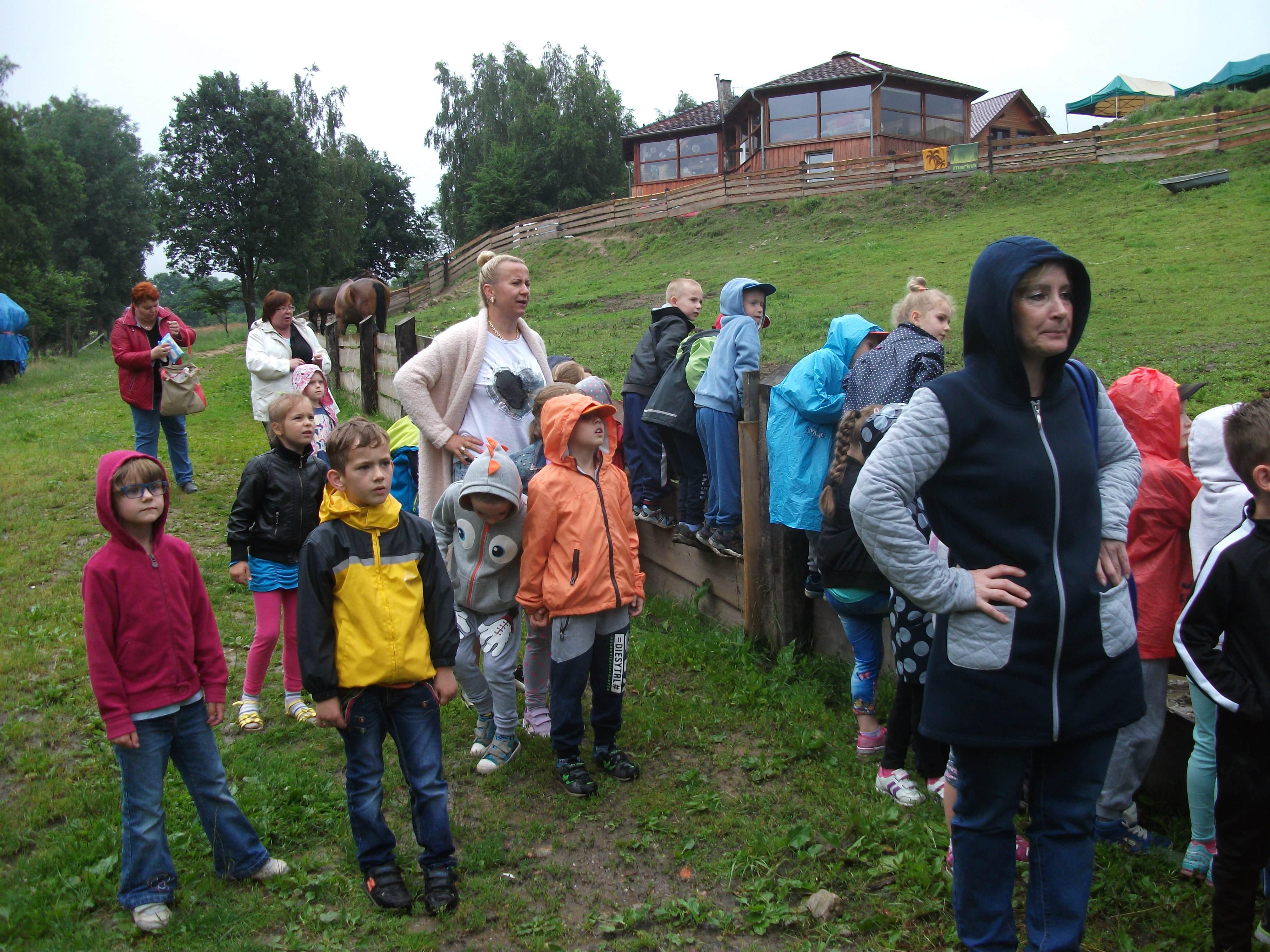 Ilustracja do informacji: Dzieci z Przedszkola Samorządowego nr 2 w Rzepinie odwiedziły Rancho w Łagówku