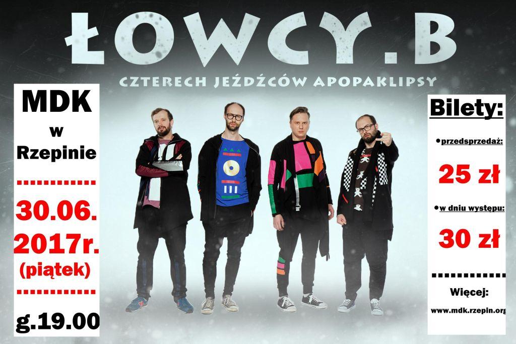 Ilustracja do informacji: ŁOWCY. B - zapraszamy na występ kabaretu!