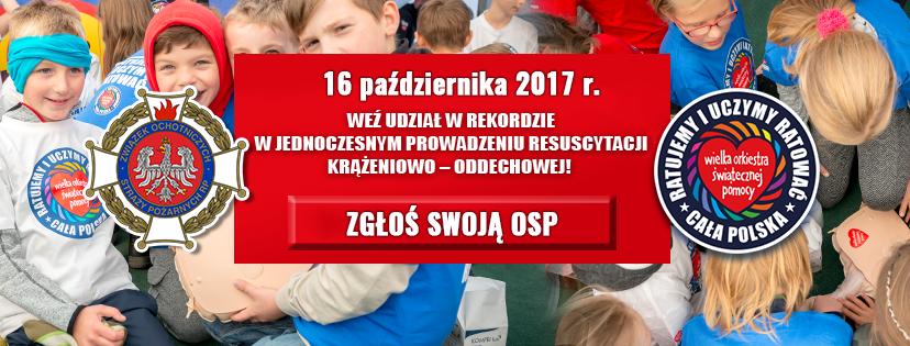 Ilustracja do informacji: Zachęcamy OSP do bicia rekordu resuscytacji krążeniowo - oddechowej razem z WOŚP!