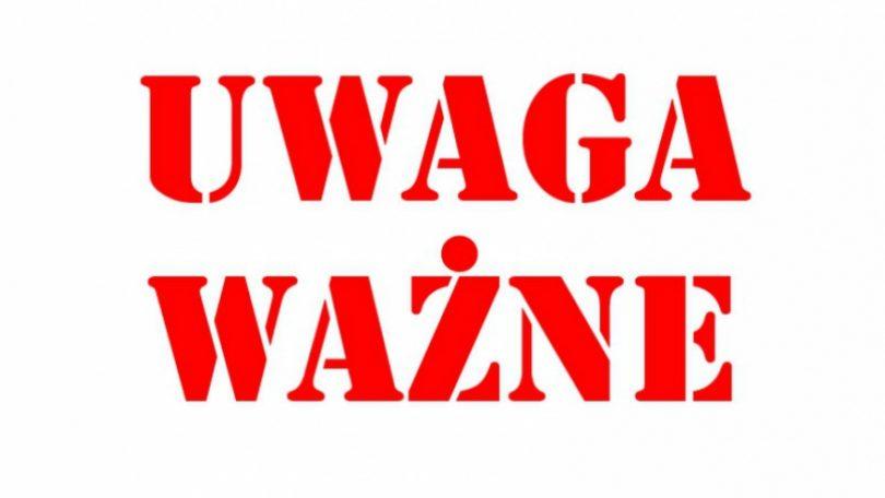 Ilustracja do informacji: Uwaga – zmiana organizacji ruchu!