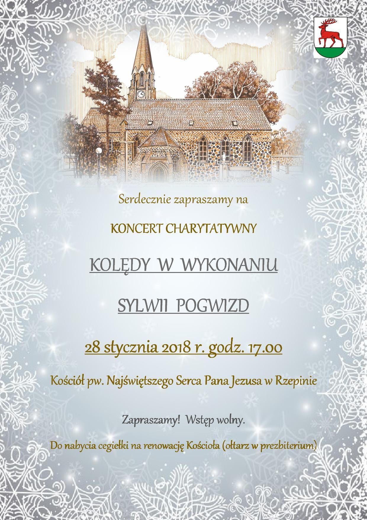 Ilustracja do informacji: Zapraszamy na koncert charytatywny w wykonaniu Sylwii Pogwizd.