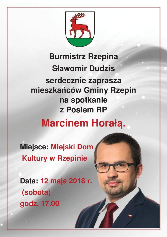 Ilustracja do informacji: Zapraszamy na spotkanie z posłem Marcinem Horałą, w MDK w Rzepinie