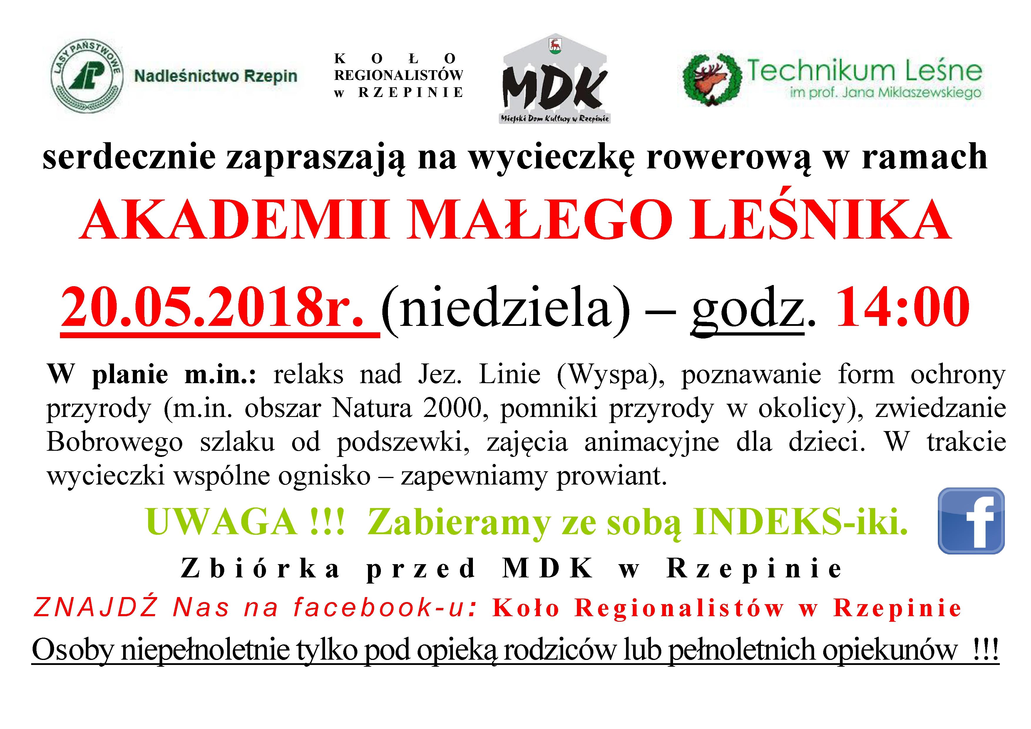 Ilustracja do informacji: Akademia Małego Leśnika zaprasza.