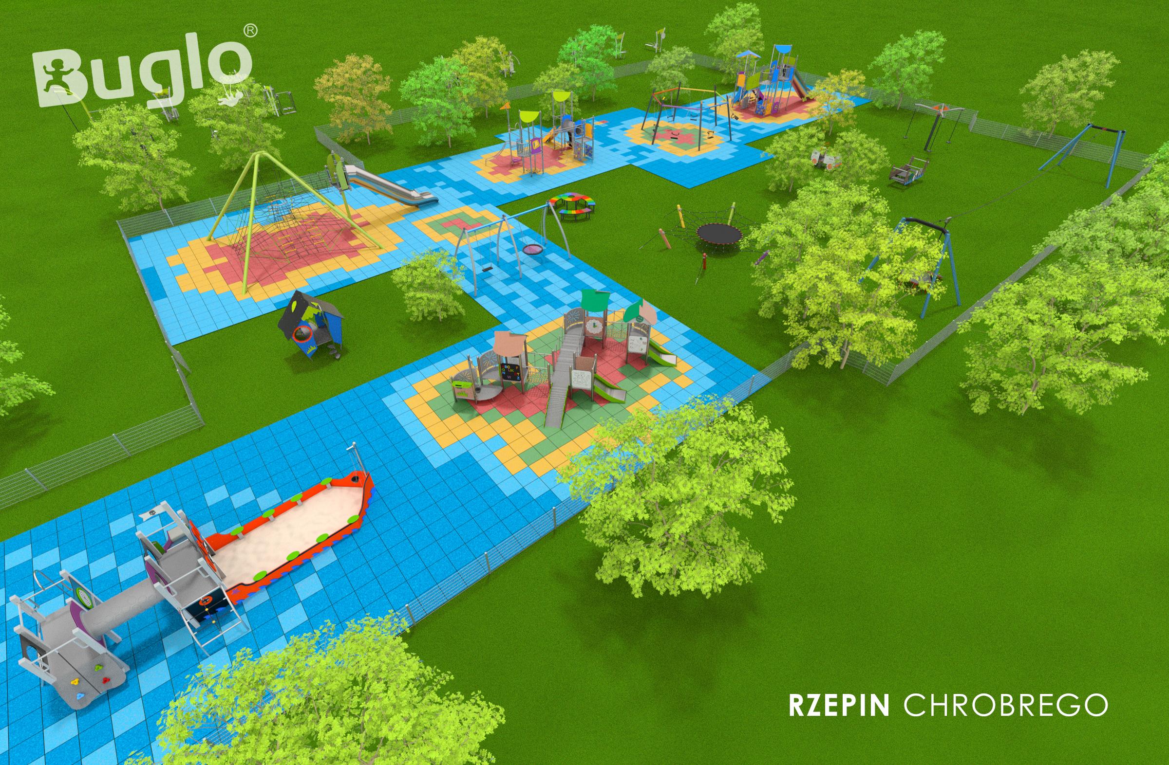 Ilustracja do informacji: Umowa podpisana! Rozpoczynamy budowę placu zabaw i siłowni plenerowych.