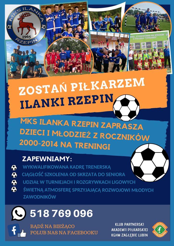 Ilustracja do informacji: Zostań piłkarzem Ilanki Rzepin!