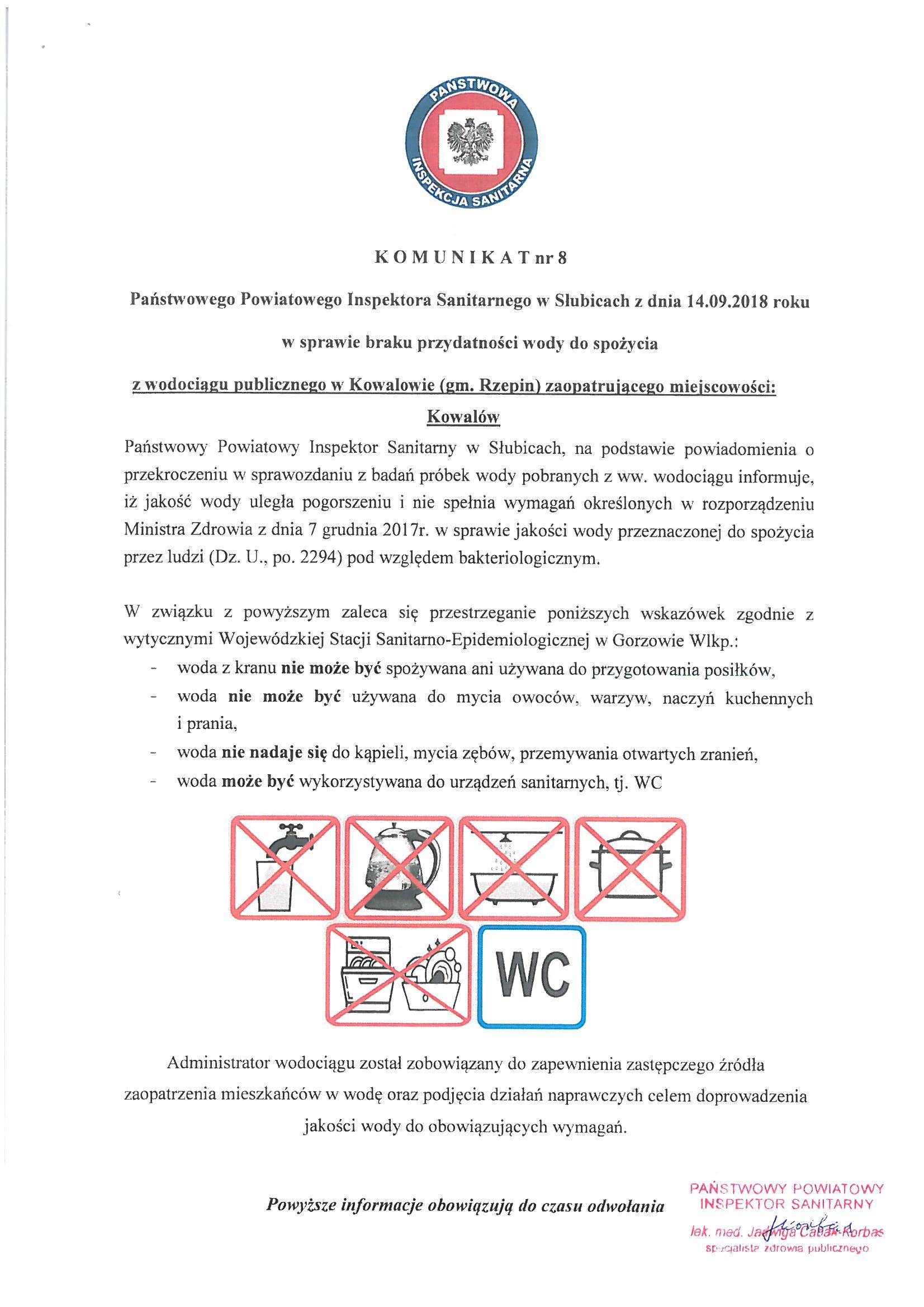 Ilustracja do informacji: Komunikat Państwowego Powiatowego Inspektora Sanitarnego w Słubicach