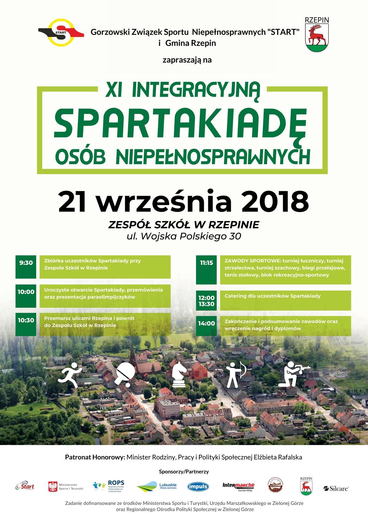 Ilustracja do informacji: Zapraszamy na XI Integracyjną Spartakiadę Osób Niepełnosprawnych w Rzepinie!
