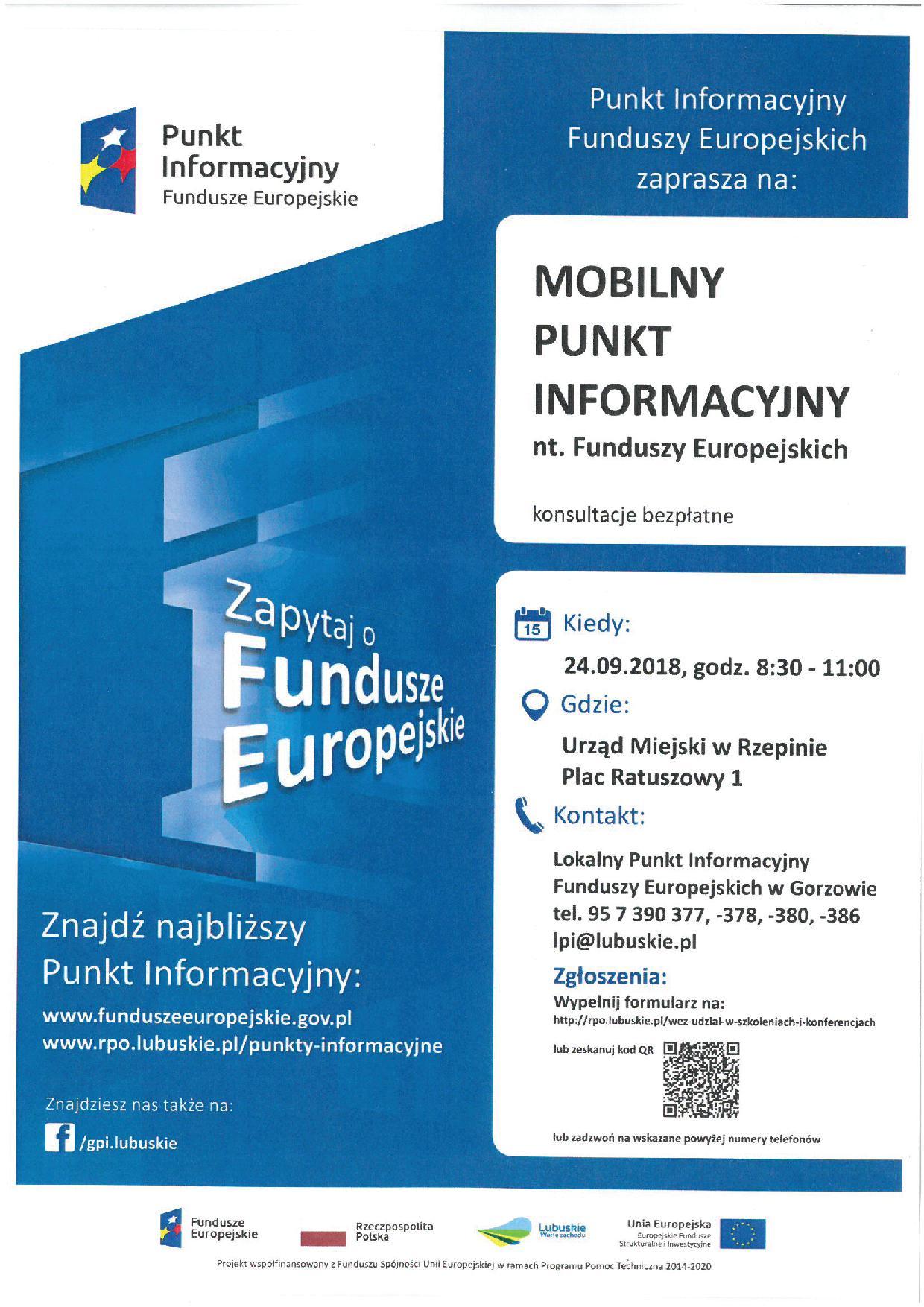 Ilustracja do informacji: Zapraszamy do Mobilnego Punktu Informacyjnego nt. Funduszy Europejskich