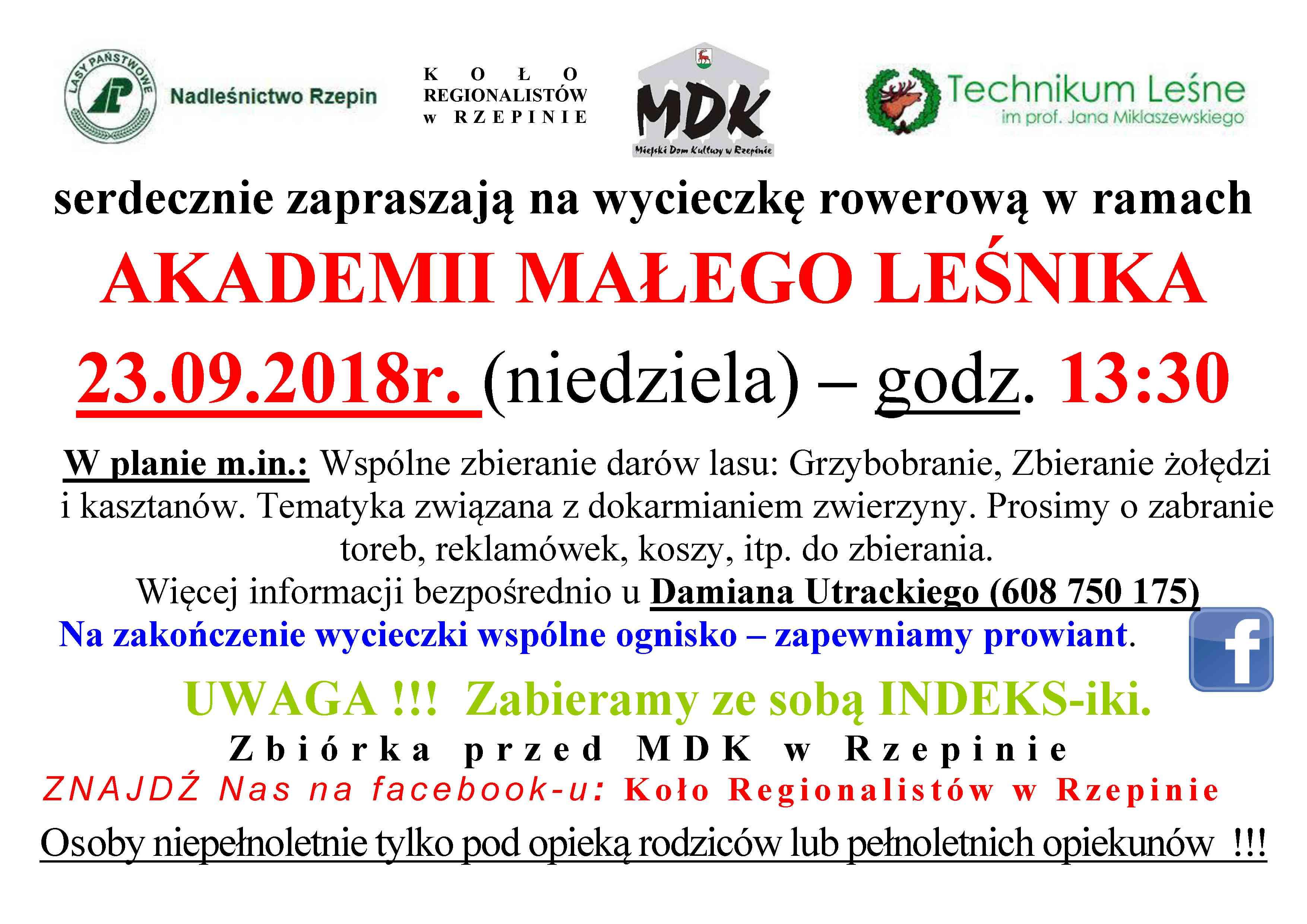 Ilustracja do informacji: Akademia Małego Leśnika zaprasza!
