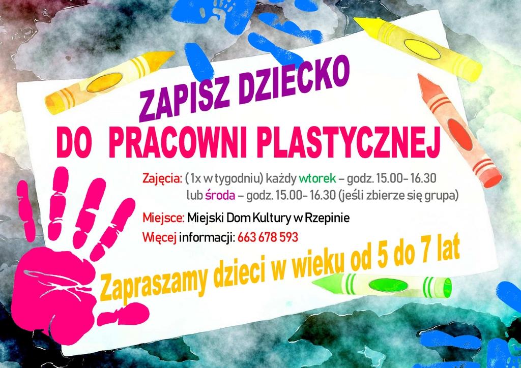 Ilustracja do informacji: Pracownia plastyczna w MDK w Rzepinie zaprasza małych artystów!