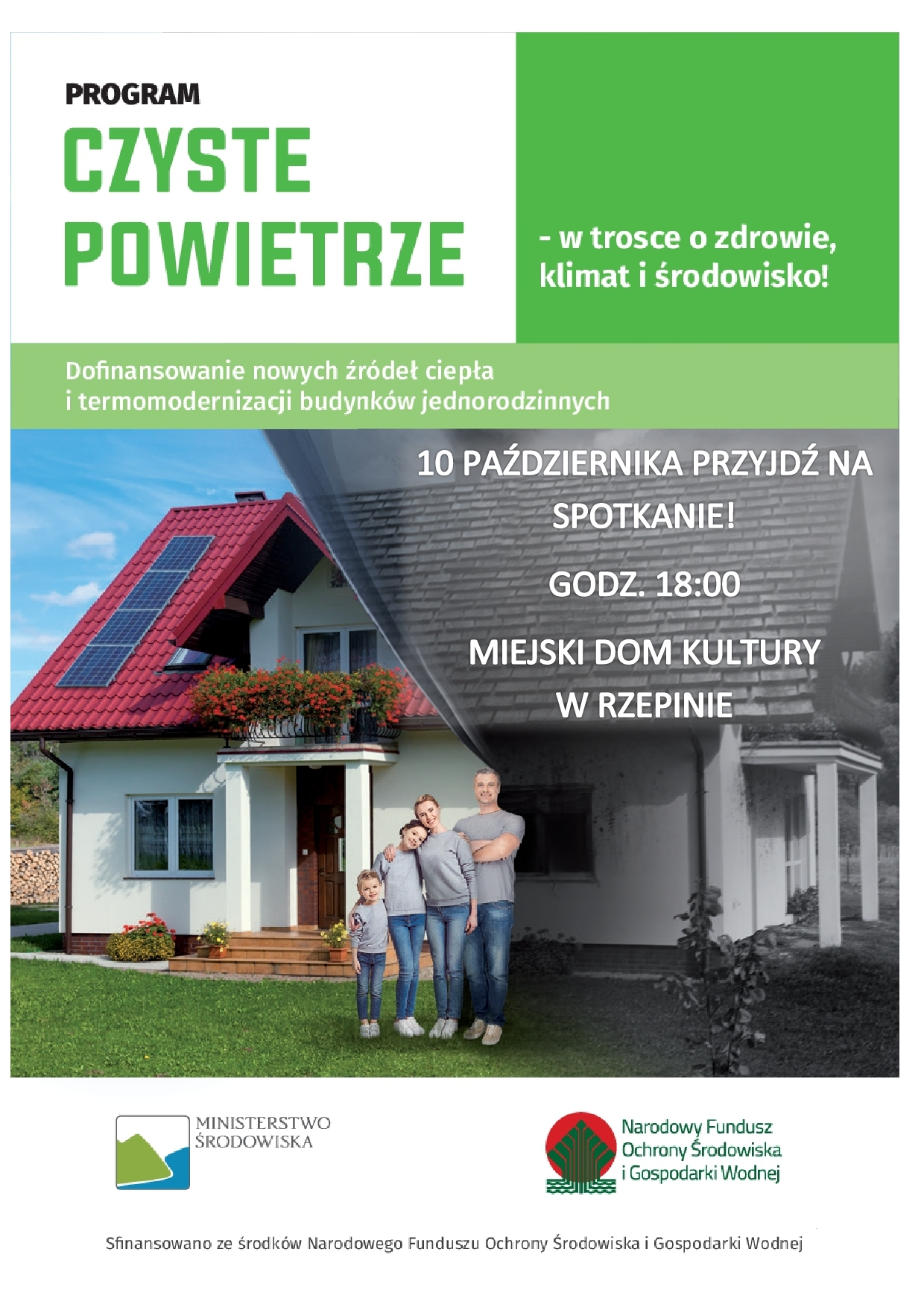 """Ilustracja do informacji: Program """"Czyste Powietrze"""" w gminie Rzepin - zapraszamy na spotkanie!"""