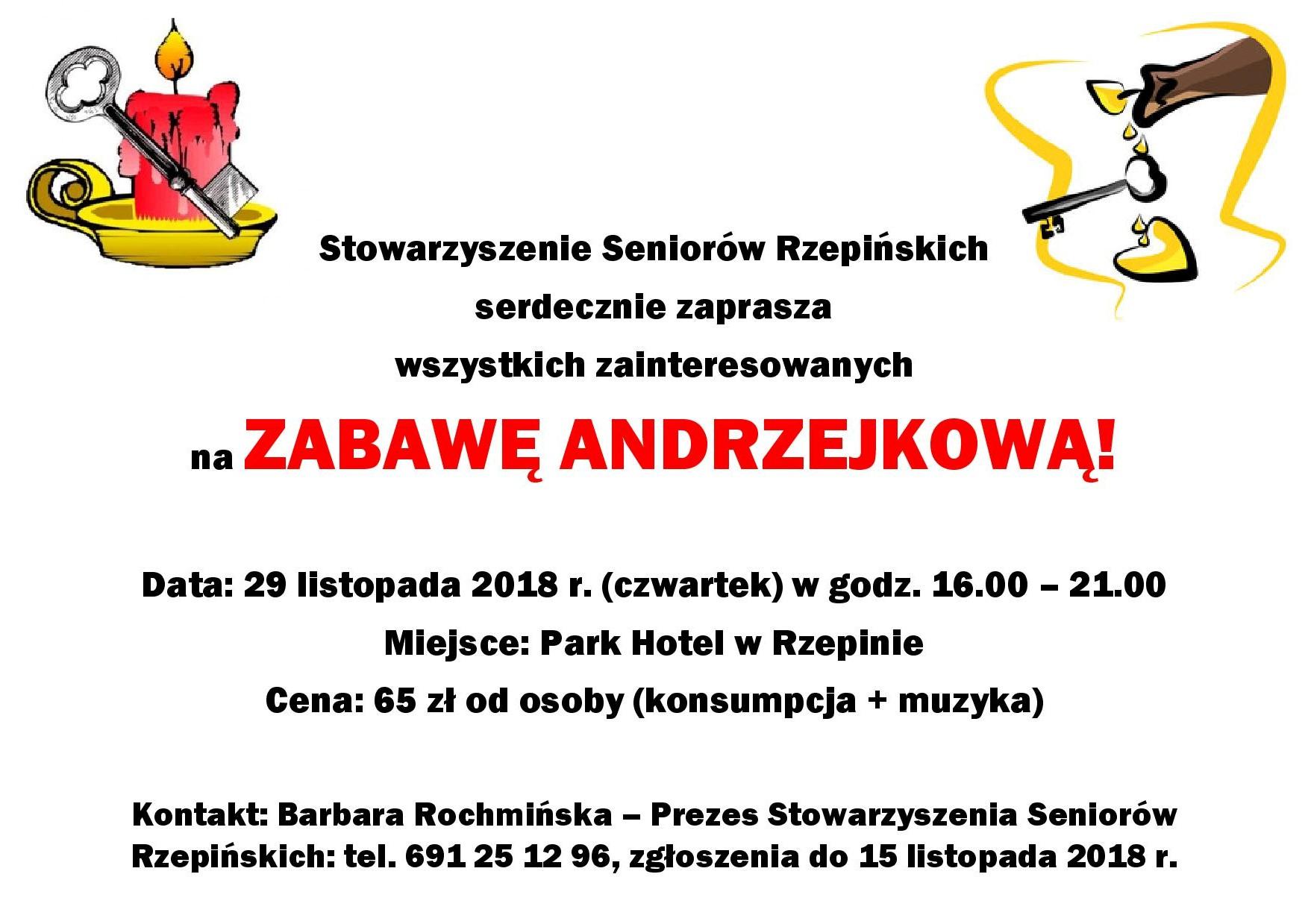 Ilustracja do informacji: Seniorzy Rzepińscy zapraszają na Zabawę Andrzejkową!
