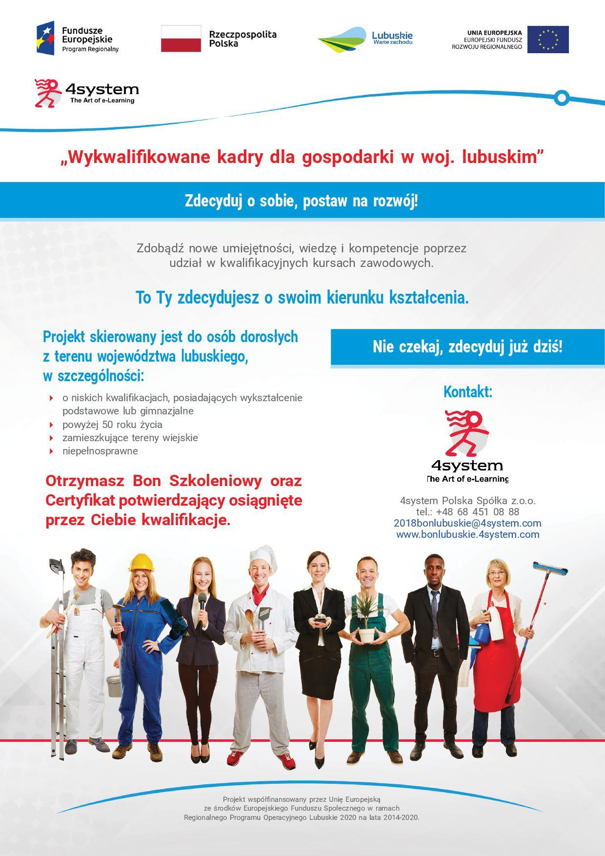 """Ilustracja do informacji: Projekt unijny """"Wykwalifikowane kadry dla gospodarki w woj. lubuskim"""""""