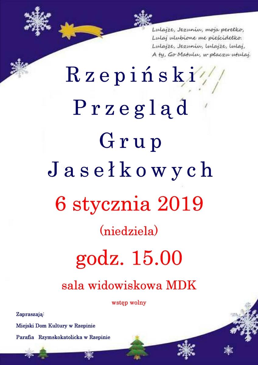 Ilustracja do informacji: Zapraszamy do udziału w Rzepińskim Przeglądzie Grup Jasełkowych