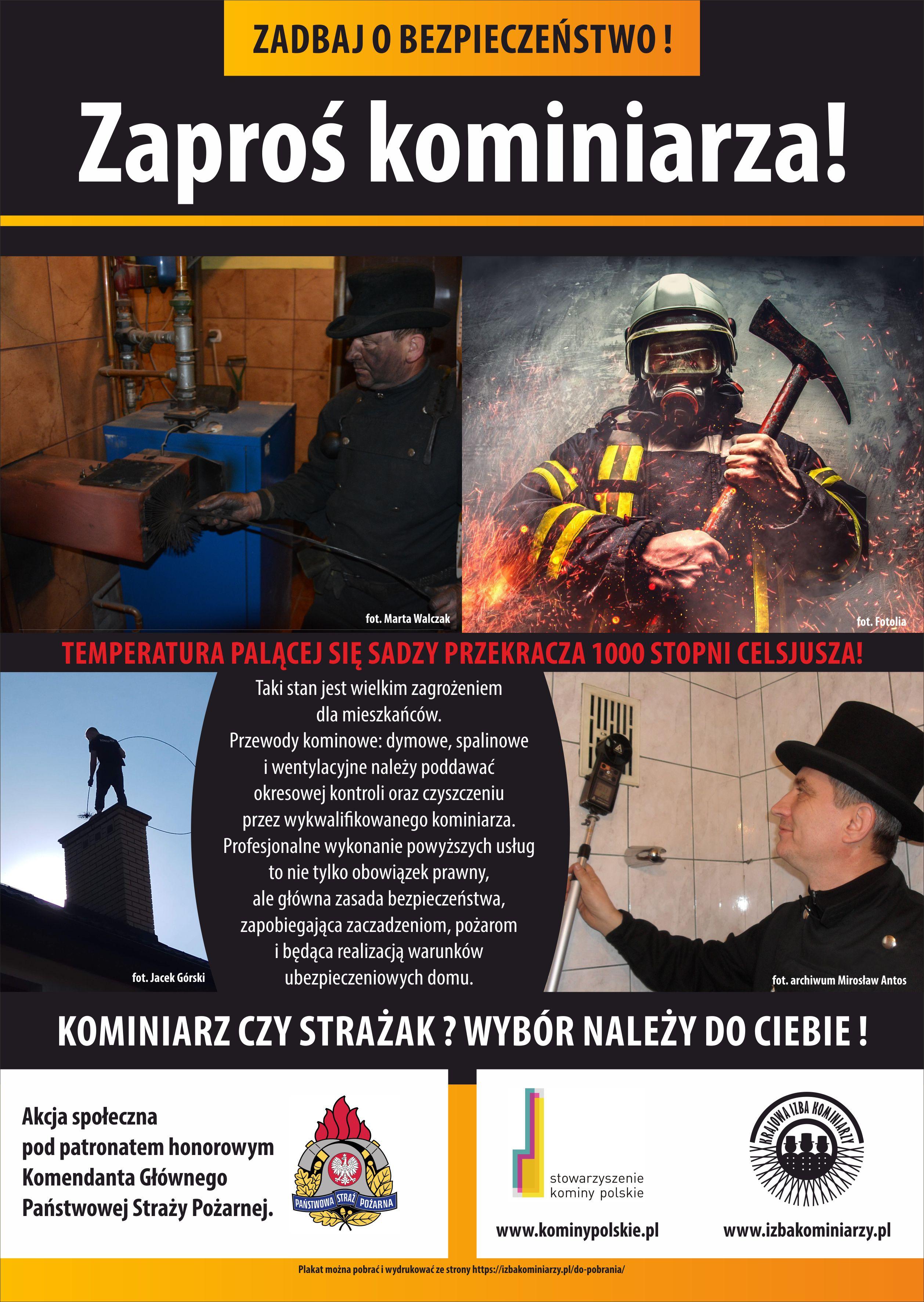 Ilustracja do informacji: Strażak czy kominiarz? Wybór należy do Ciebie!