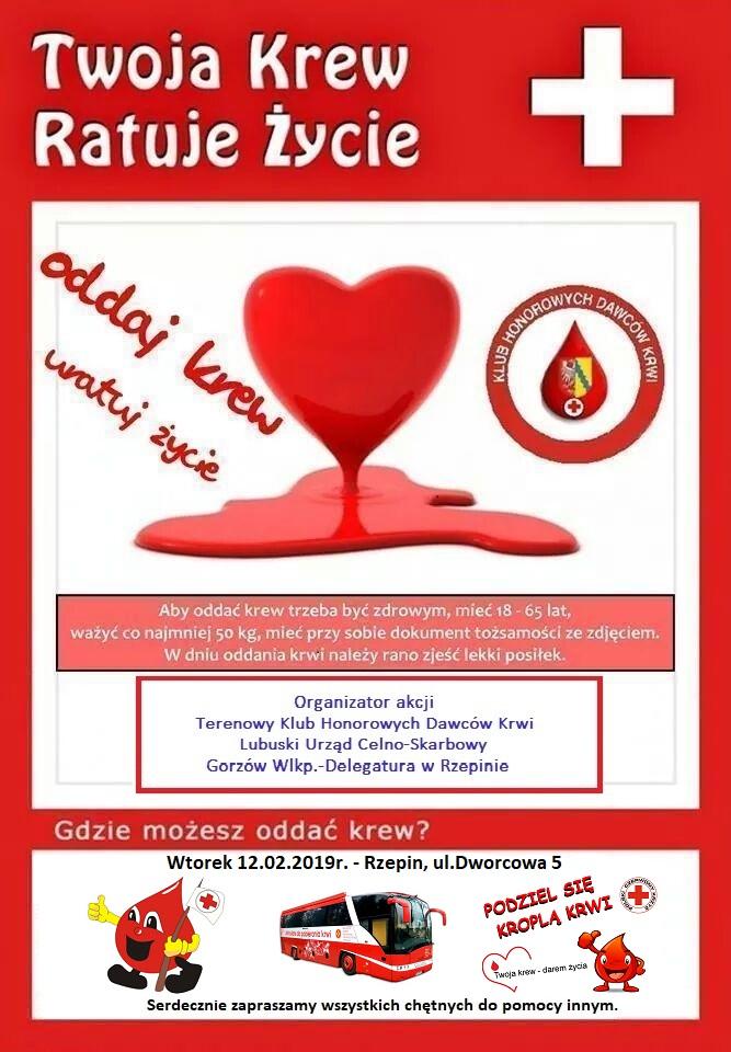 Ilustracja do informacji: Oddaj krew! Uratuj życie!