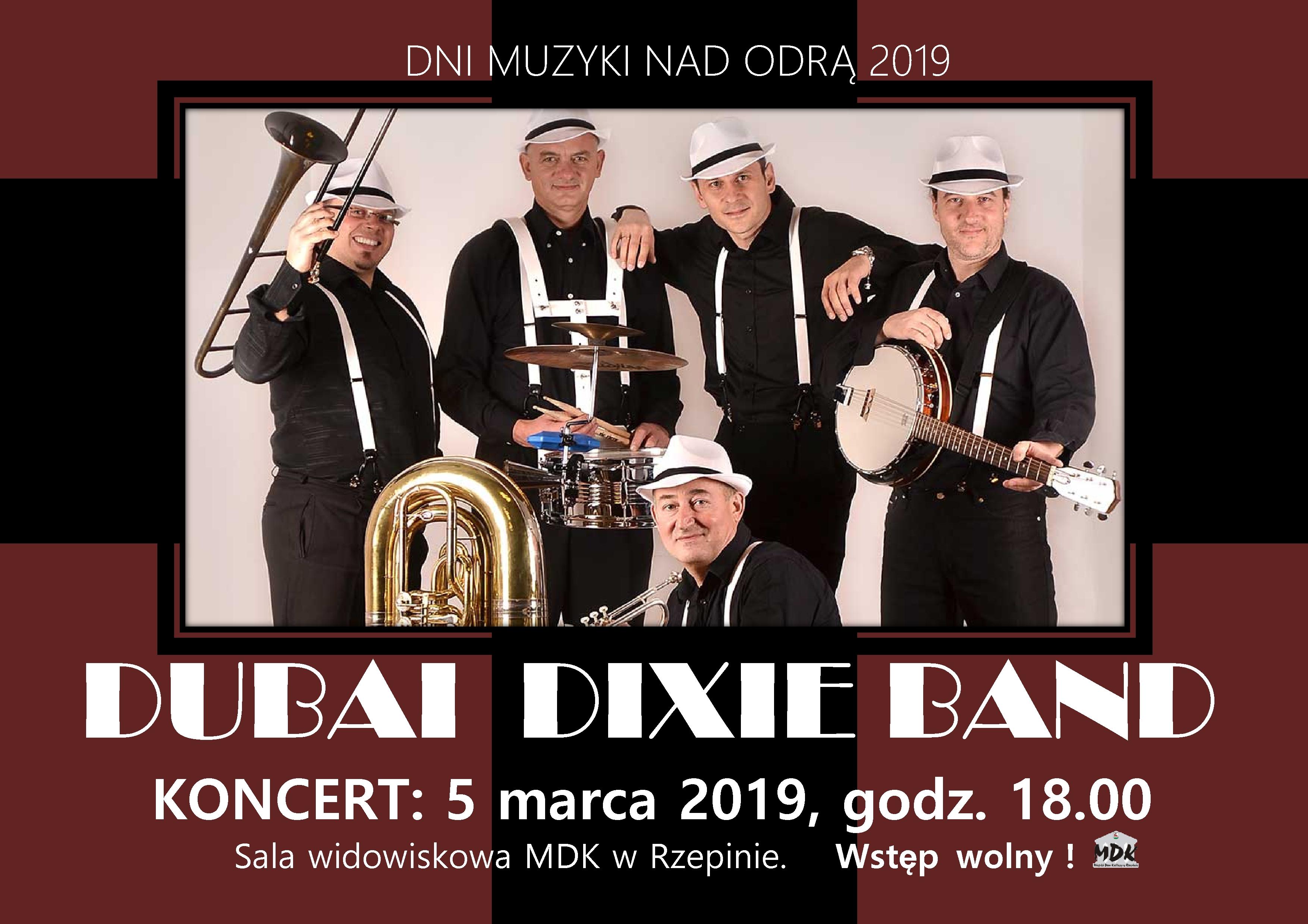 Ilustracja do informacji: Zapraszamy na koncert zespołu Dubai Dixie Band