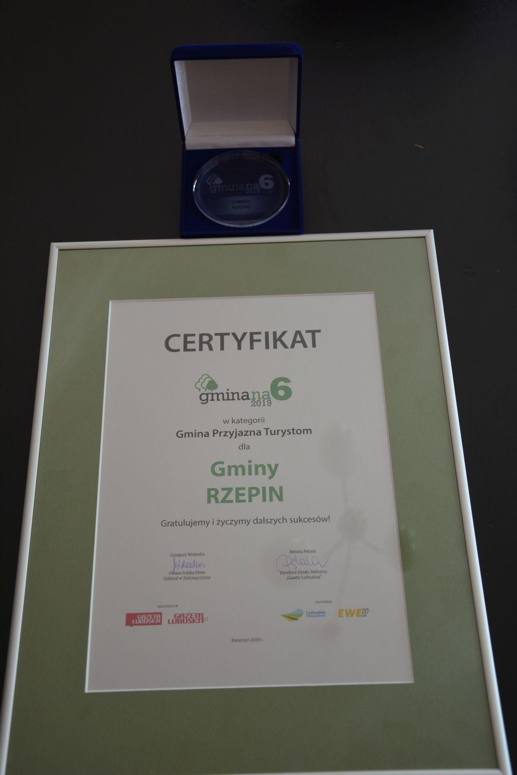 """Ilustracja do informacji: Rzepin zwyciężył w kategorii – """"GMINA PRZYJAZNA TURYSTOM"""""""