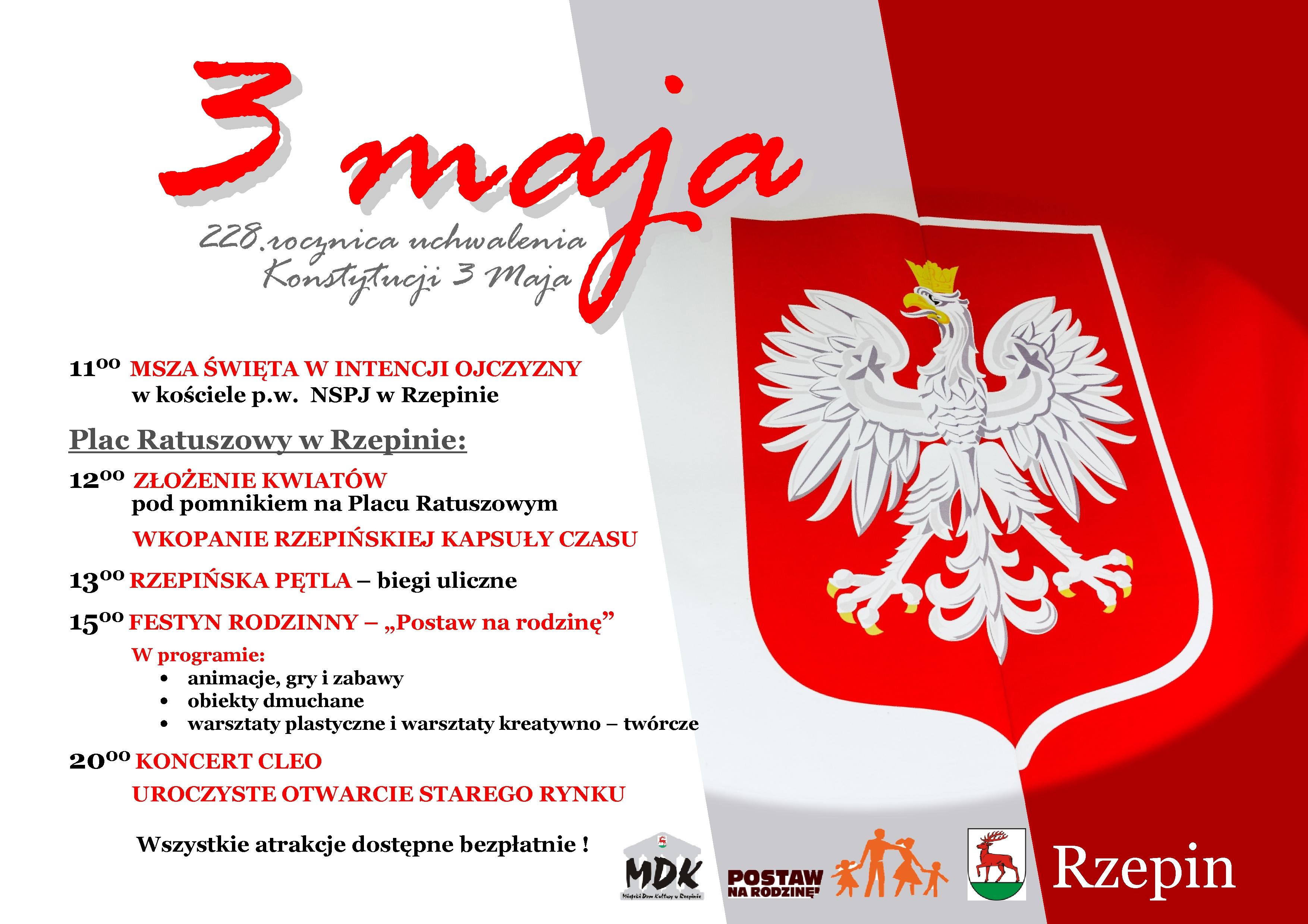 """Ilustracja do informacji: Zapraszamy na """"Majówkę w Rzepinie"""" i uroczyste otwarcie zrewitalizowanego Starego Miasta w Rzepinie!"""
