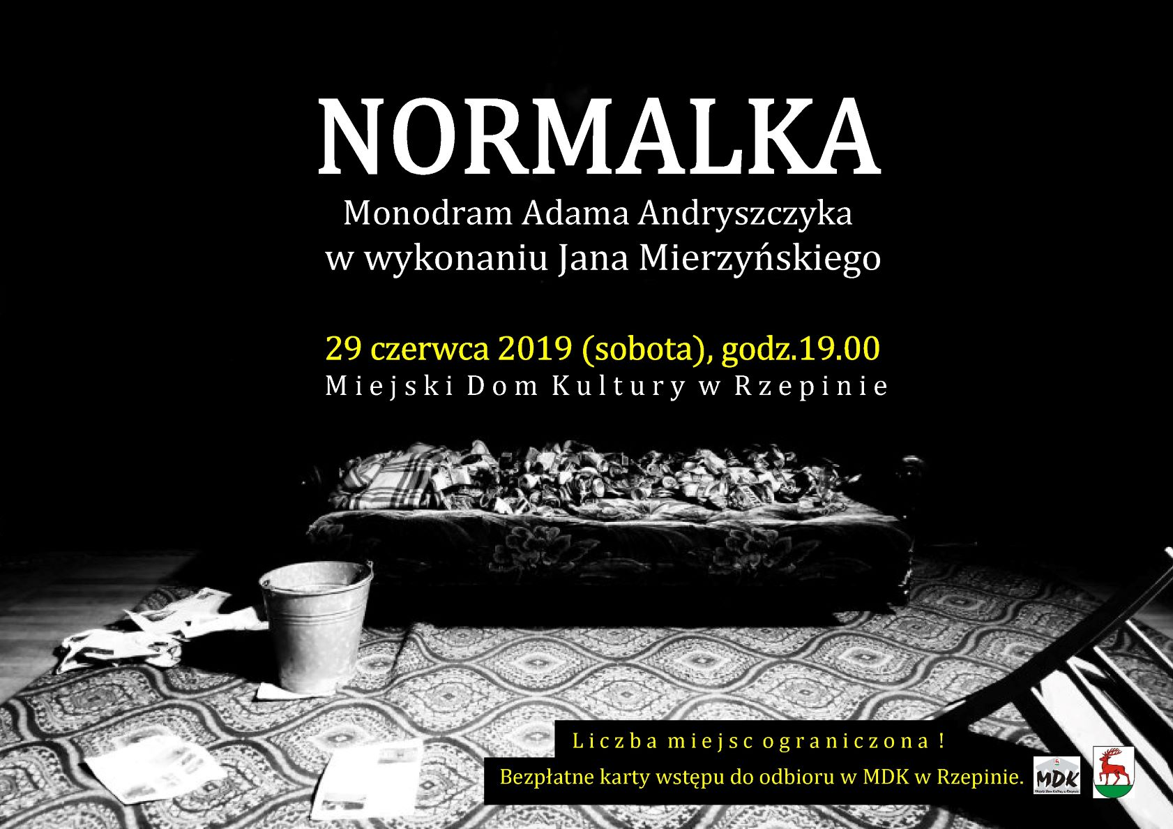 """Ilustracja do informacji: Zapraszamy na monodram """"Normalka"""" w MDK w Rzepinie"""