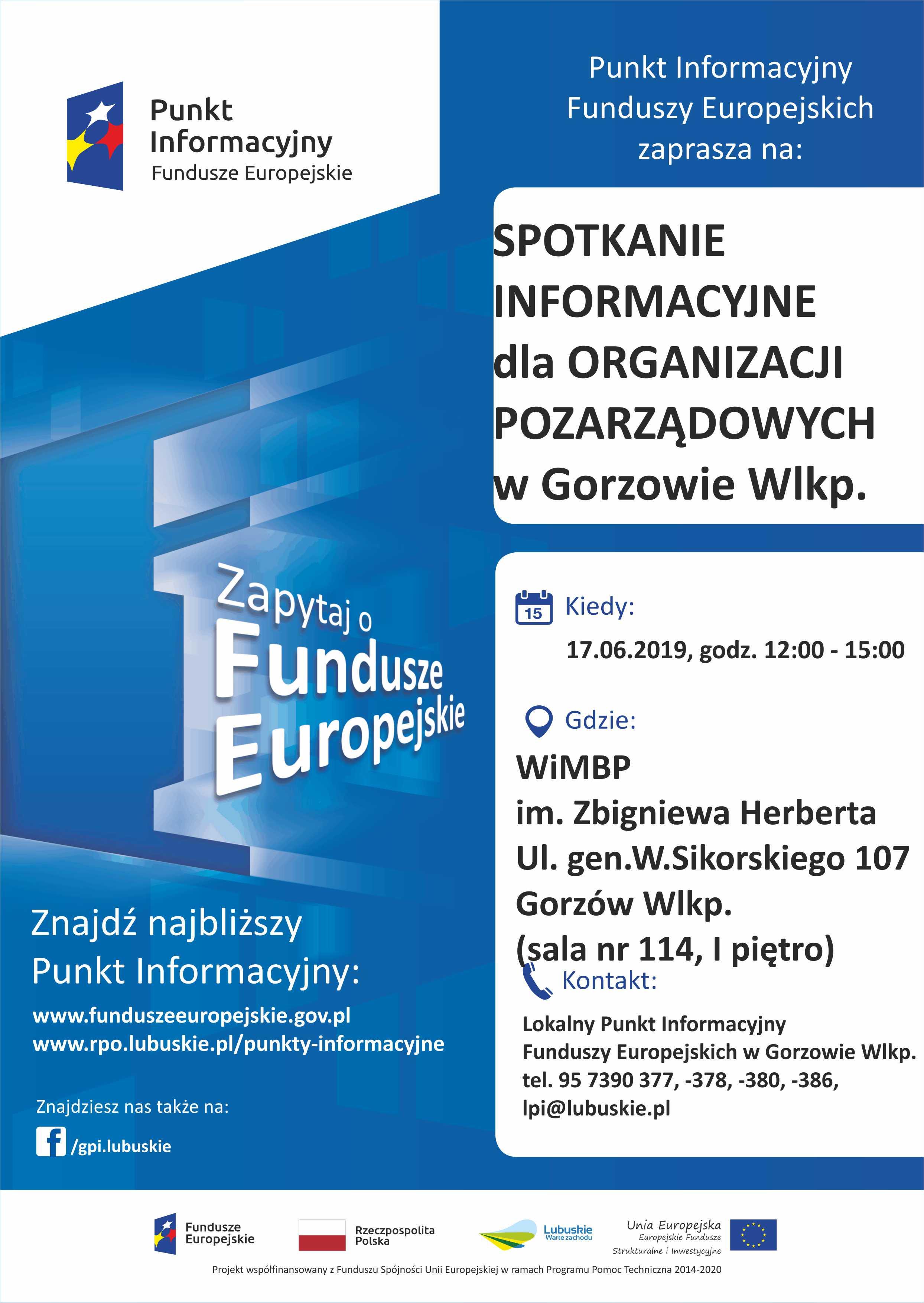 Ilustracja do informacji: Spotkania dla NGO's: Gorzów Wlkp. 17.06.2019 r. i Zielona Góra 18.06.2019 r.