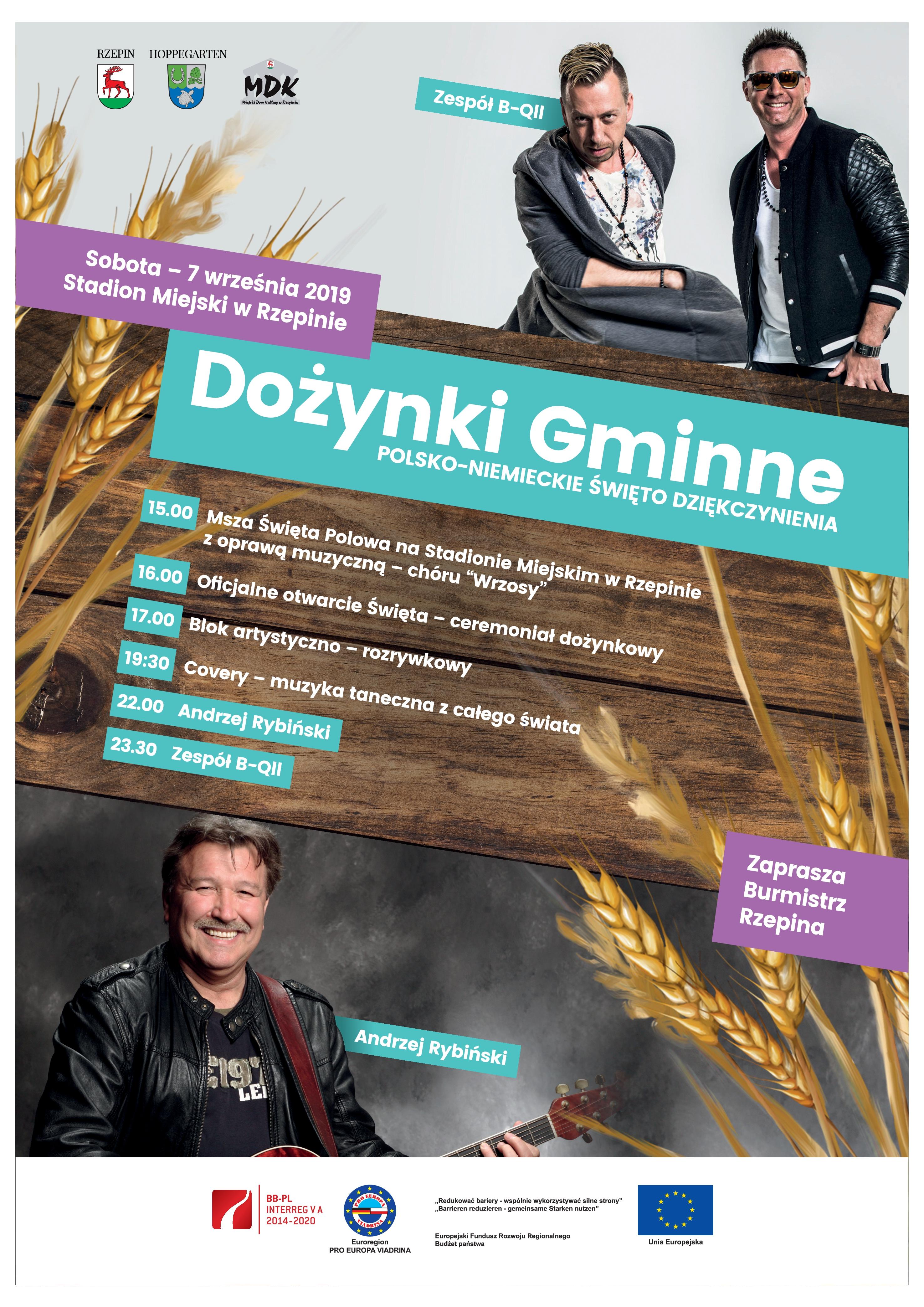 """Ilustracja do informacji: Zapraszamy na Dożynki Gminne - """"Polsko-niemieckie święto dziękczynienia!"""""""