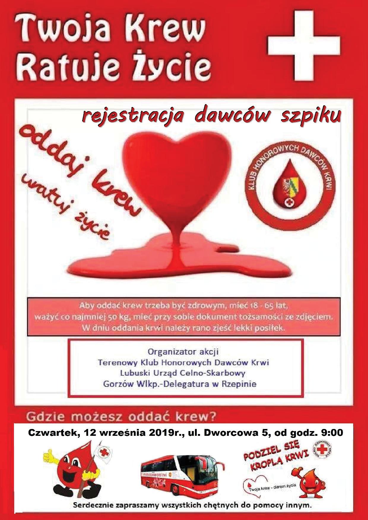 Ilustracja do informacji: Twoja krew ratuje życie!!