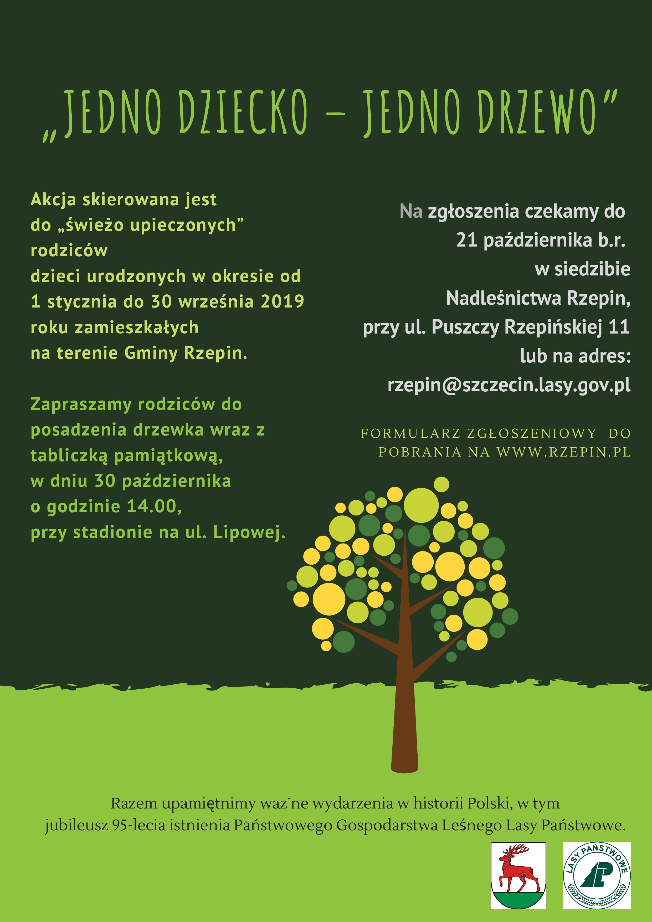 """Ilustracja do informacji: Przyłącz się do akcji """"Jedno dziecko - jedno drzewo"""""""