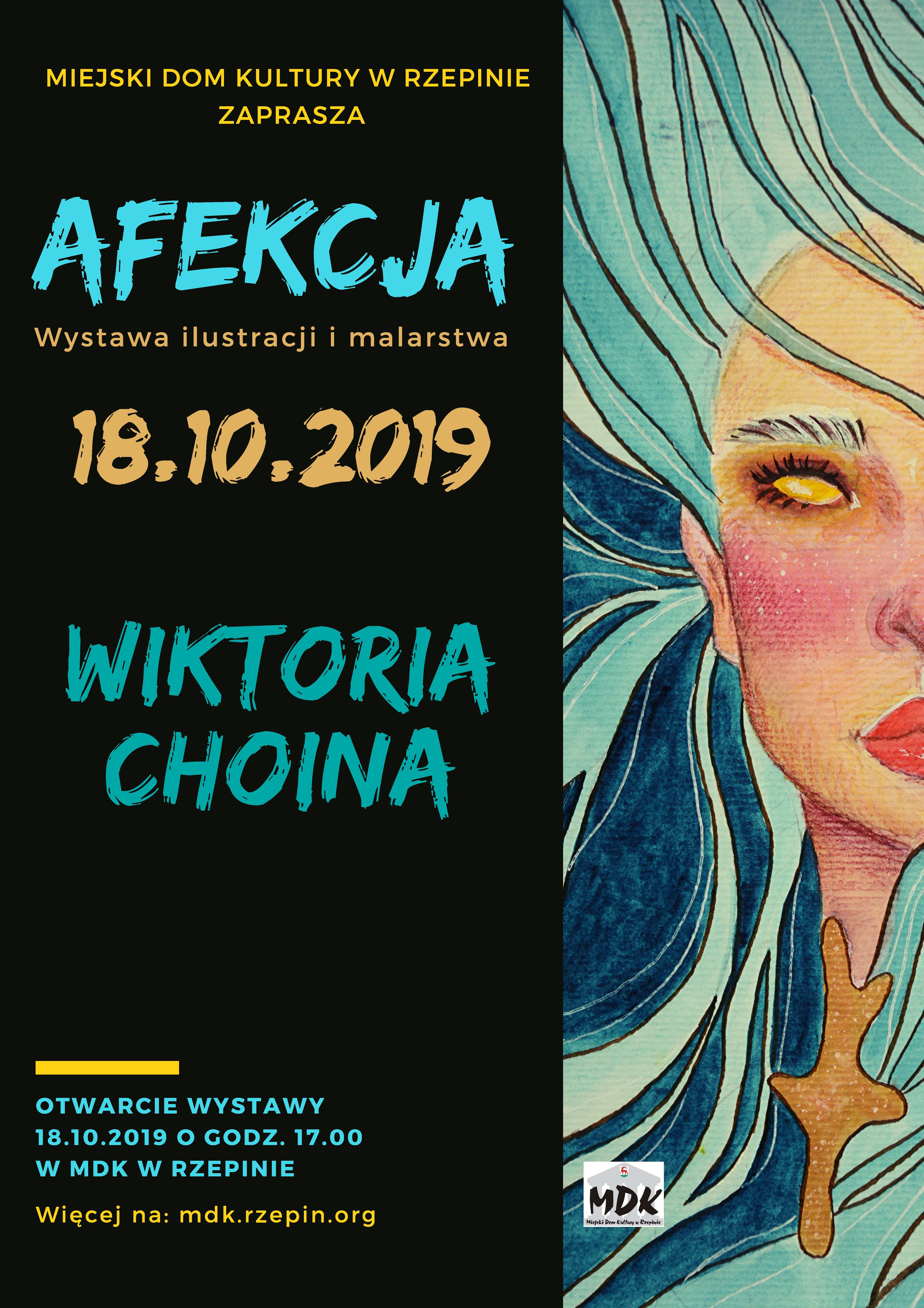 Ilustracja do informacji: Zapraszamy na otwarcie wystawy prac Wiktorii Choiny