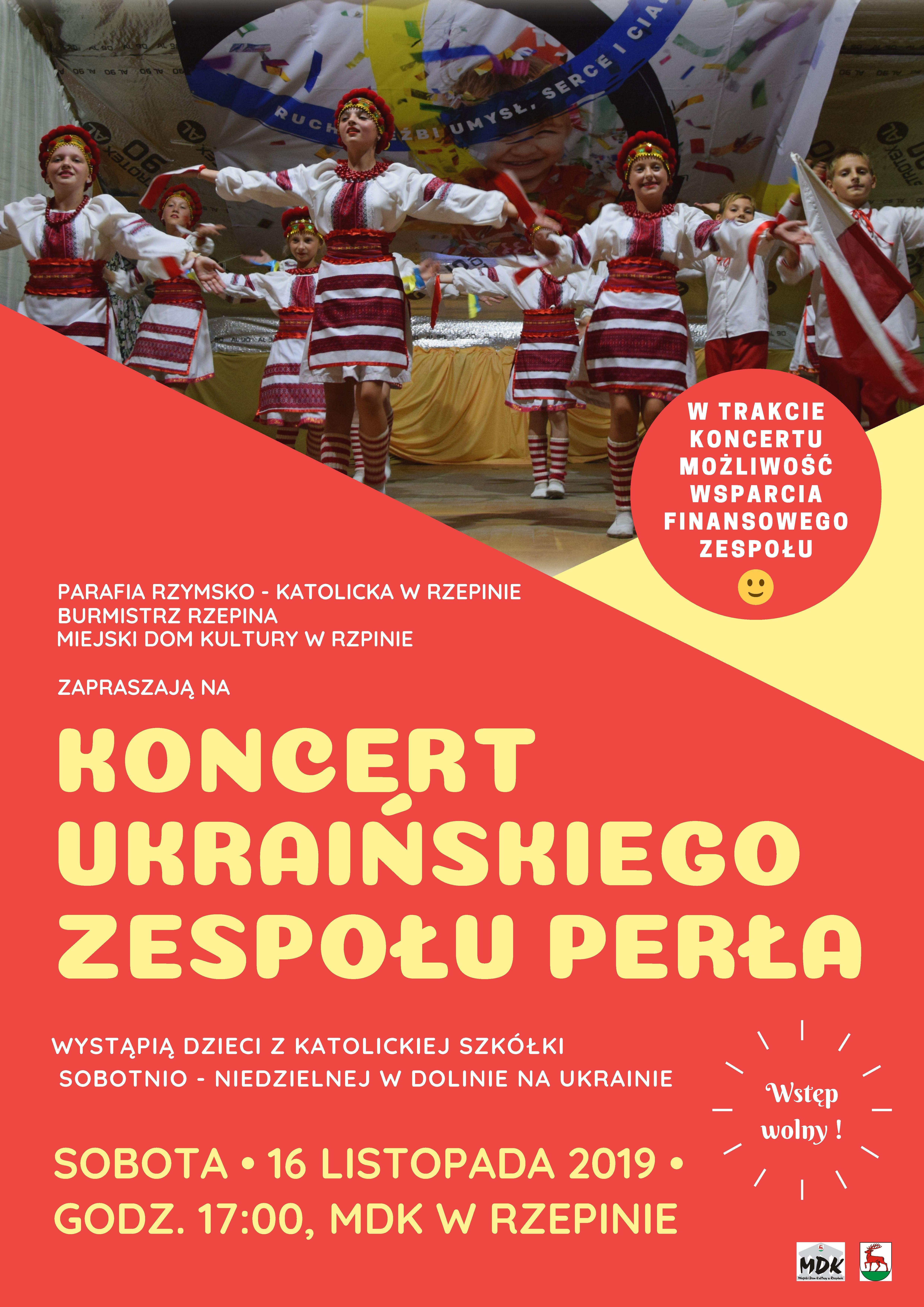 """Ilustracja do informacji: Zapraszamy na koncert ukraińskiego zespołu """"Perła"""""""