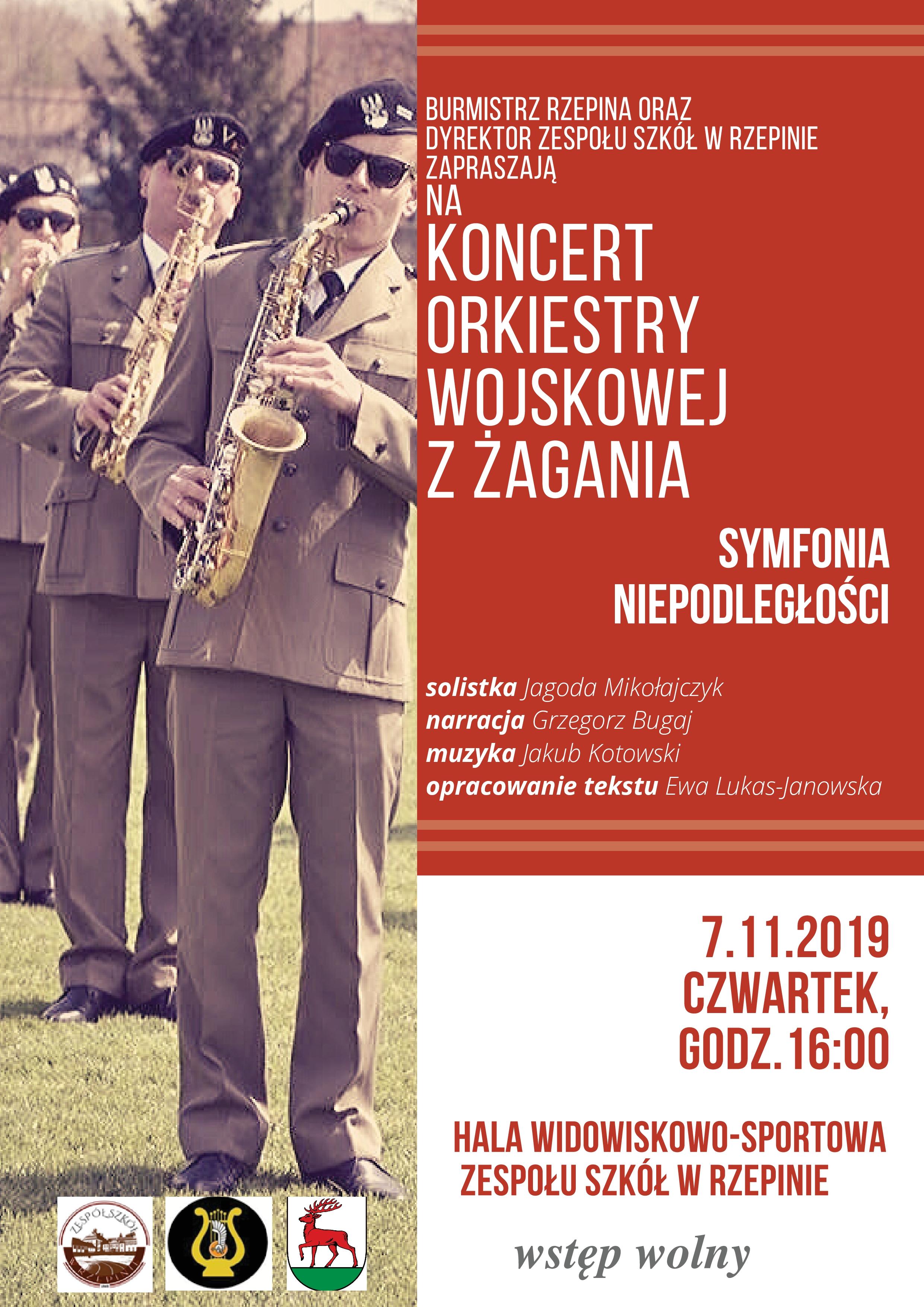 Ilustracja do informacji: Zapraszamy na Koncert Orkiestry Wojskowej z Żagania