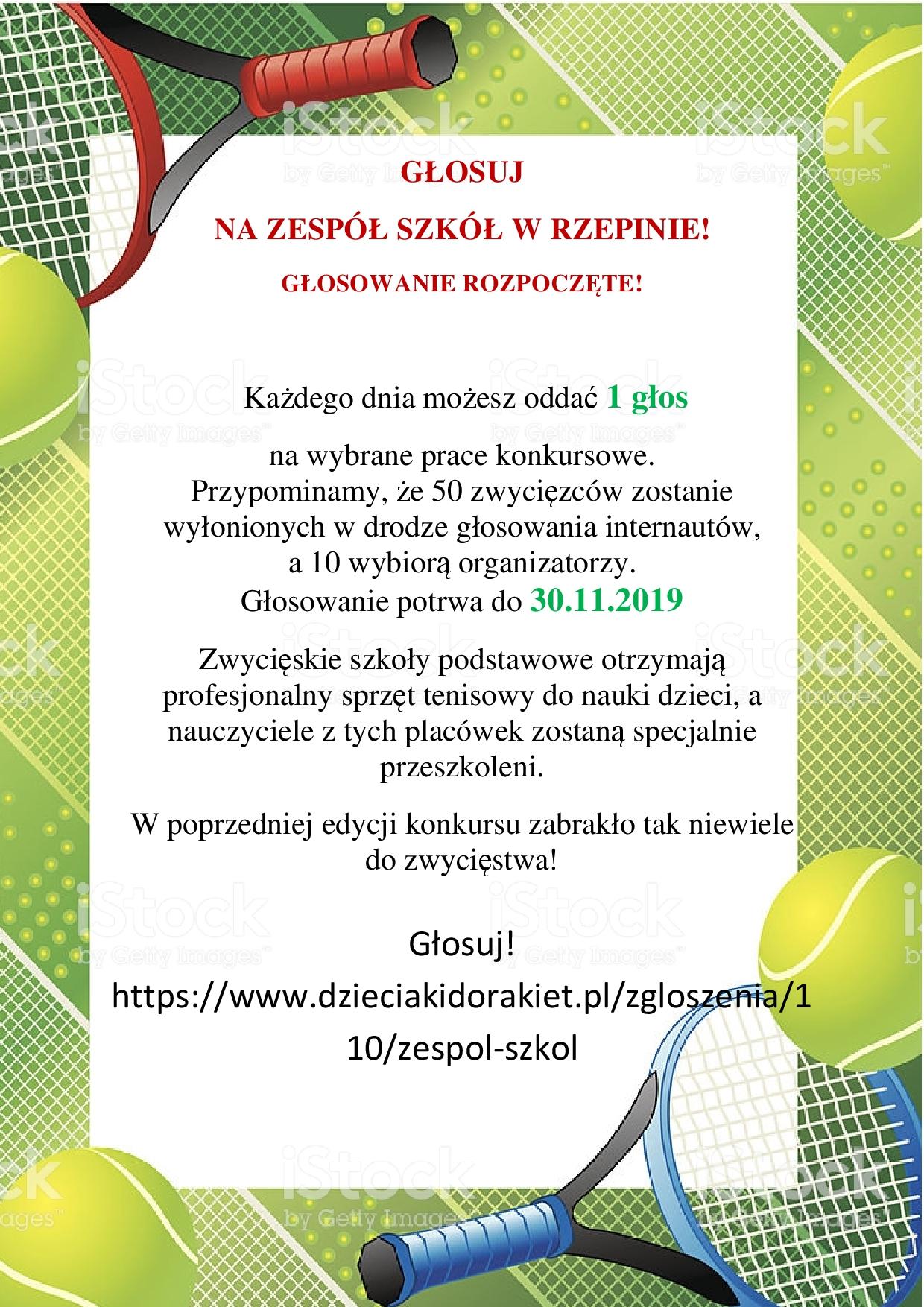 Ilustracja do informacji: Głosuj na Zespół Szkół w Rzepinie!!!