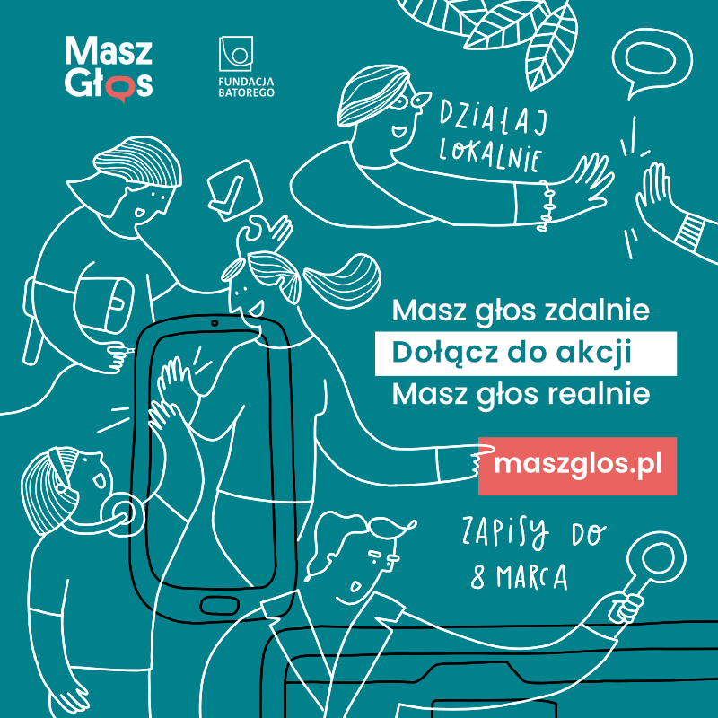 """Ilustracja do informacji: Akcja """"Masz Głos"""" dla lokalnych społeczności"""