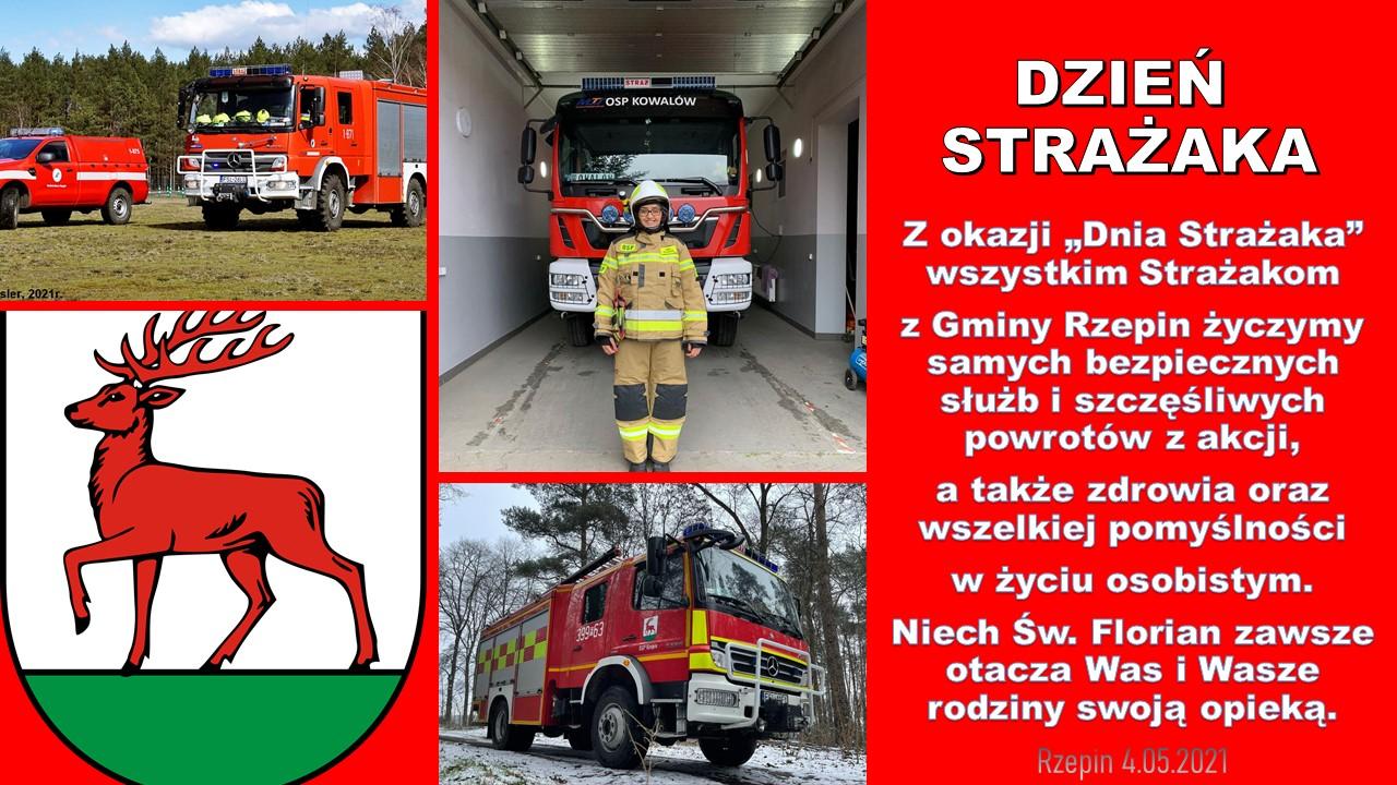 Ilustracja do informacji: Życzenia z okazji Dnia Strażaka!