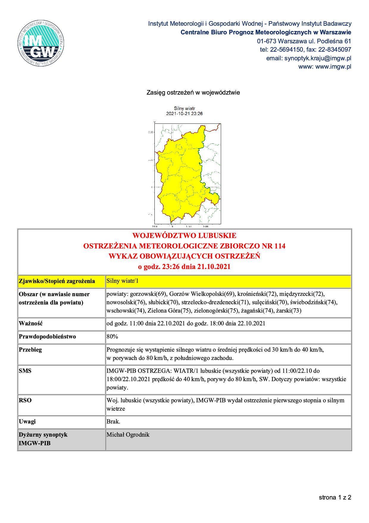 Ilustracja do informacji: Ostrzeżenia meteorologiczne: Silny wiatr!